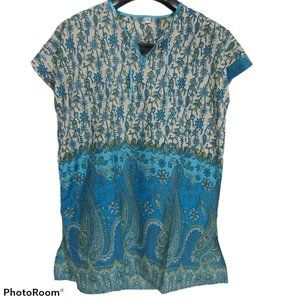 *3/$85* summer tunic size L paisley hippie boho